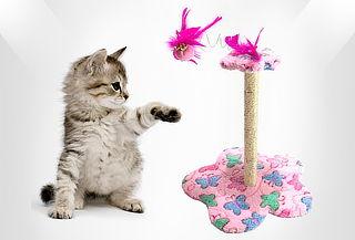 Rascador para Gatos en Forma de Flor