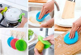 Set X 3 Esponjas En Silicona para Cocina