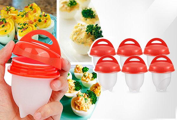 Juego de Cocina para Huevos, Antiadherentes en Silicona