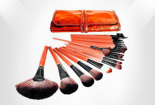 Set de 24 Brochas de Maquillaje Color a Elección