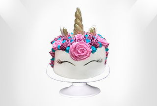 Torta Unicornio Relleno Arcoiris de 12, 25 o 37 Porciones