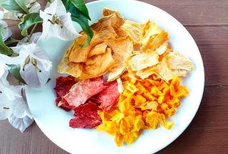 250 Gramos de Fruta Deshidratada 5 Sabores