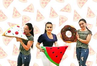 1 ó 2 Cojines Decorativos de Sandia, Dona o Pizza