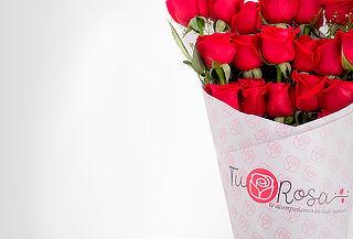 Bouquet de 24 Rosas Rojas Tipo Exportación + Mensaje