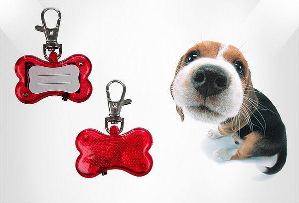 Clip Luz Reflectora Para Perro Con Luz Led y Etiqueta Nombre