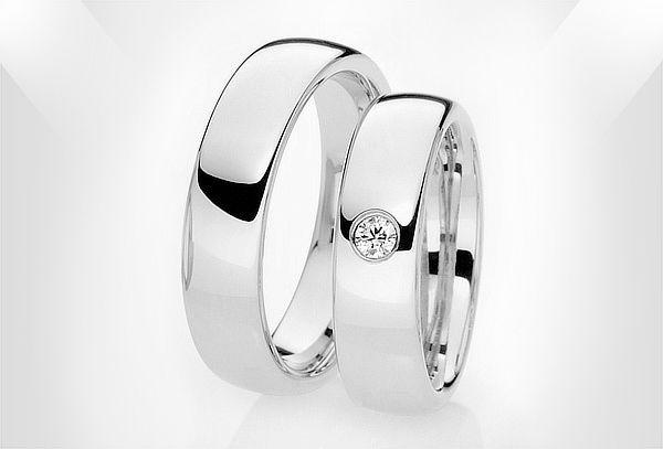 5105dd59a009 Argollas de Matrimonio en Plata con Opción a Circón SWAROVSK