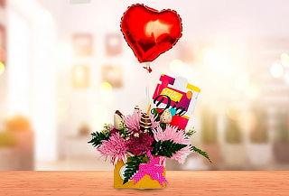 Combo: Flores Tipo Exportación + Fresas + Vino o Chocolates