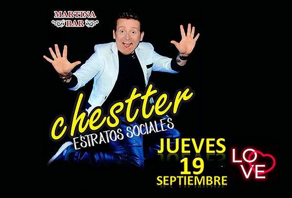 Stand Up Comedy con Chestter, 19 de Sept. En Martina Bar