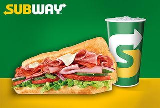SUBWAY: Sándwich 15 cm + Bebida - Valido en 34 Sedes