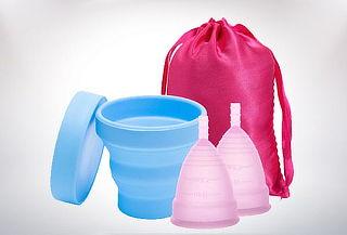 Set x 2 Copas Menstruales Classic Vivacup Color Aleatorio