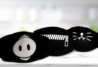 Tapabocas Negros Estampados con Filtro