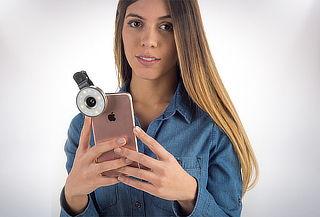 Juego de 2 Lentes con Clip y Luz  para Selfie