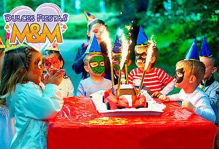 Fiesta + Decoración + Menaje para 20 niños