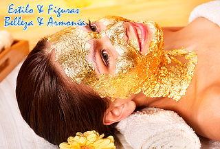 Spa Facial Con Mascara De Oro y Peeling en la Esmeralda