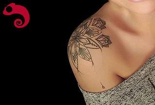 Tattoo de una Mandala 10x10 cm a Color + Microdermal