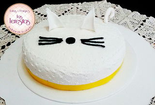 Torta en Forma de Gato para 20 Porciones