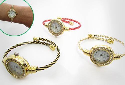 OUTLET - Reloj Aro Mujer Dorado - Blanco
