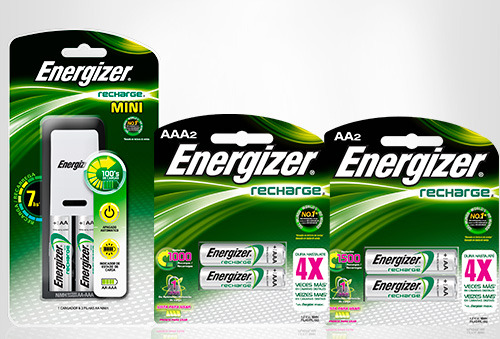 OUTLET - Combo Cargador Mini + Pila Recargable Aa O Aaax2 Eveready Combo Cargador Mini + Pila Recargable Combo Cargador MINI + Pila Recargable AAx2