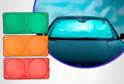 OUTLET - Parasol Sun Para Carro X 2 Rojo