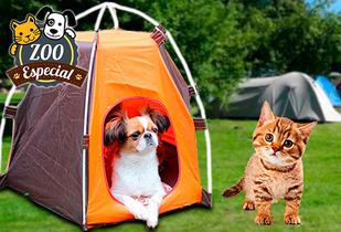 OUTLET - Carpa Para Mascotas Azul - Naranja