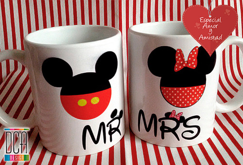 OUTLET - Mugs DcaDesign Mickey And Minie 2- Unidades
