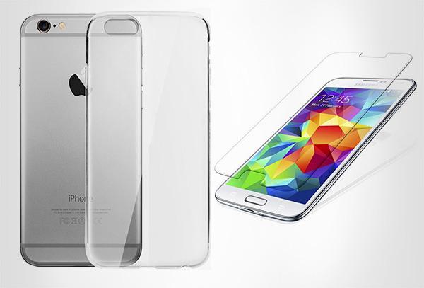 OUTLET - Kit Protector Celular Funda Silicona+vidrio Templado Samsung S4