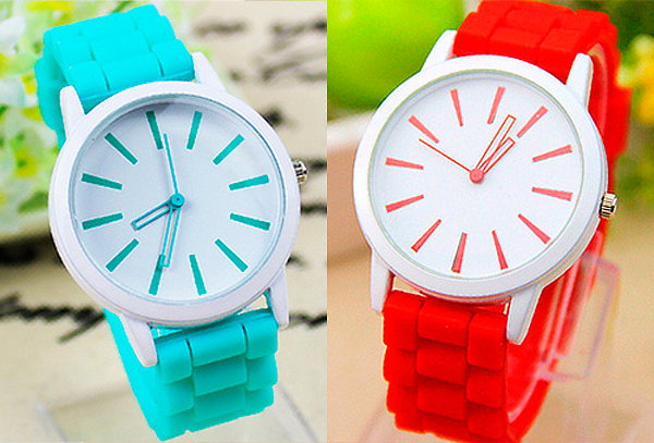 OUTLET - Reloj De Moda Cuponatic Pulso Siliconado Rojo