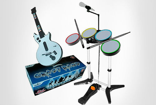 OUTLET - Combo RockBand World Bateria-microfono-guitarra