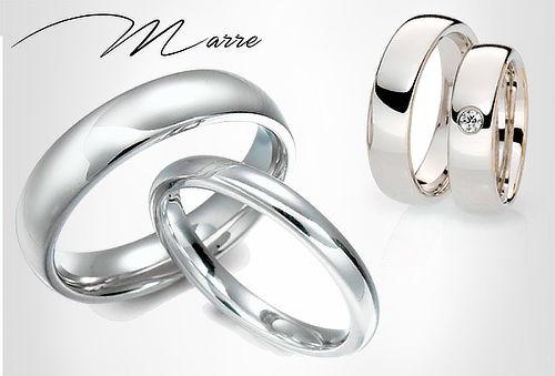Argollas de Matrimonio en Plata, Circón + Baño de Rodium