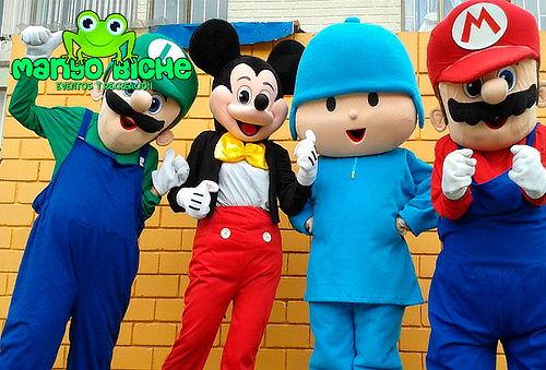 Fiesta Infantil para 20 niños + Chiquitek + Muñecos Gigantes