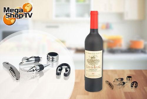 Set Accesorios Para Vino X5 Piezas En Botella