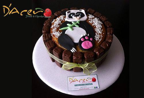 Torta Personalizada con Galleta de Chocolate.