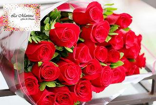 Bouquet de 12 Rosas Tipo Exportación + Envio