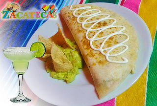 2 Quesadillas Mixtas + 2 Margaritas Frappe