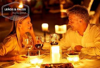 Leños y Palos con Cena Romántica