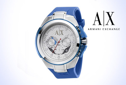 5349d6160c56 Reloj Armani AX 1041 para Él en Azul 41%