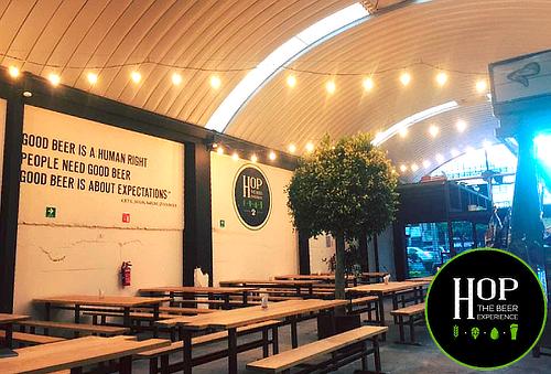 HOP The Beer Experience: Alitas + Chelas Artesanales 50%