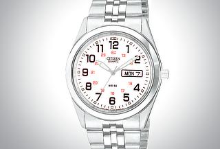 Reloj Citizen Unisex Ferrocarril Cara Blanca 65%