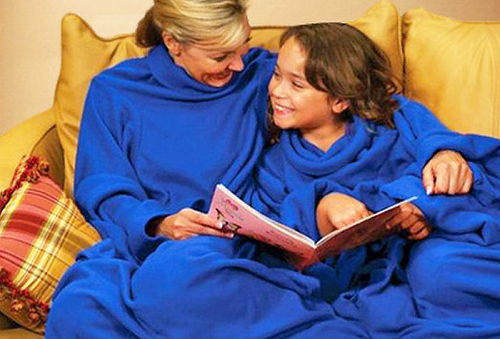 Cobija con Mangas En color a elegir Azul,Uva Ó Gris 50%