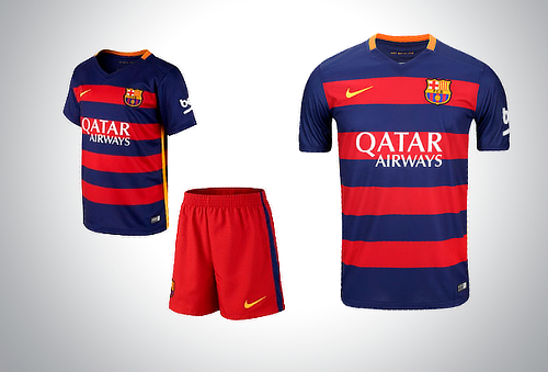 Jersey o Conjunto Barcelona Local 2015-2016