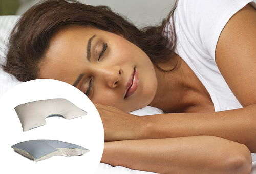 Almohada  Cervical Media Luna de Memory Foam 66%