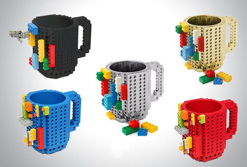 Taza Build-on con diseño de bloques Lego 30%