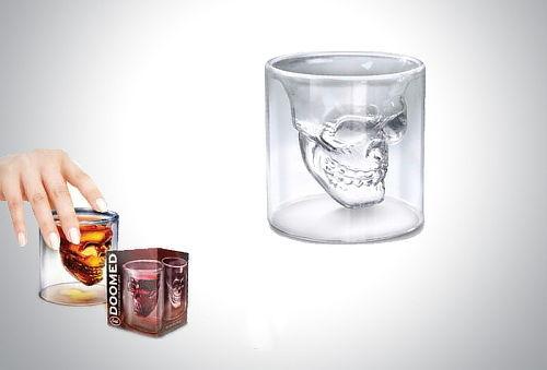 Shots: vasos de cristal calavera Doomed Cráneo 50%