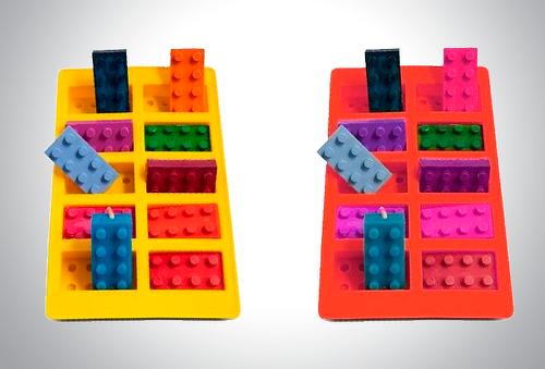 Kit de Moldes De Silicón Para Hielos Forma De Bloques Lego