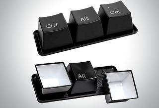 Tazas con Forma de Teclas de Computadora Ctrl + Alt + Del
