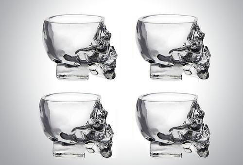 Set De 4 Shots De Craneo Calavera 24%