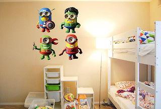 Sticker Minion Heroes  ¡Moderniza tus paredes!