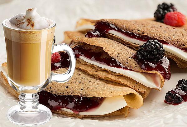 2 Crepas + 2 Capuccinos en Caffe Citta ¡2 sucursales!