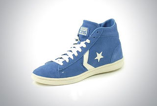 Tenis Converse Leather Mid Blue