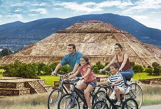 Paga1 Viajan2  Valle de Teotihuacán, Recorrido en BICI, 1DÍA